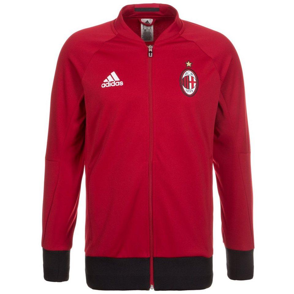adidas Performance AC Mailand Anthem Jacke Herren in rot / schwarz