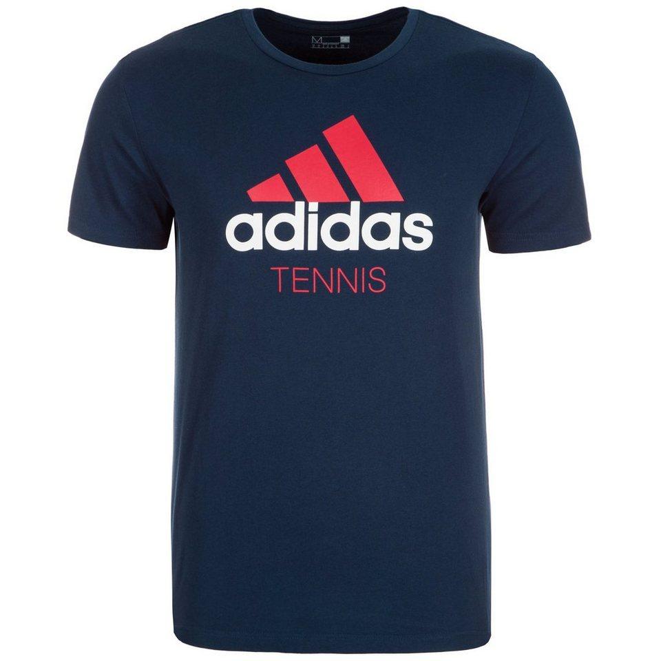 adidas Performance Tennisshirt Herren in dunkelblau / rot