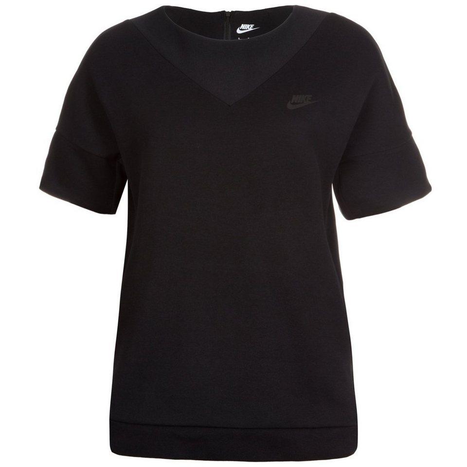 Nike Sportswear Tech Fleece Crew Sweatshirt Damen in schwarz
