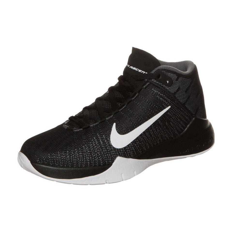 NIKE Zoom Ascention Basketballschuh Kinder in schwarz / grau