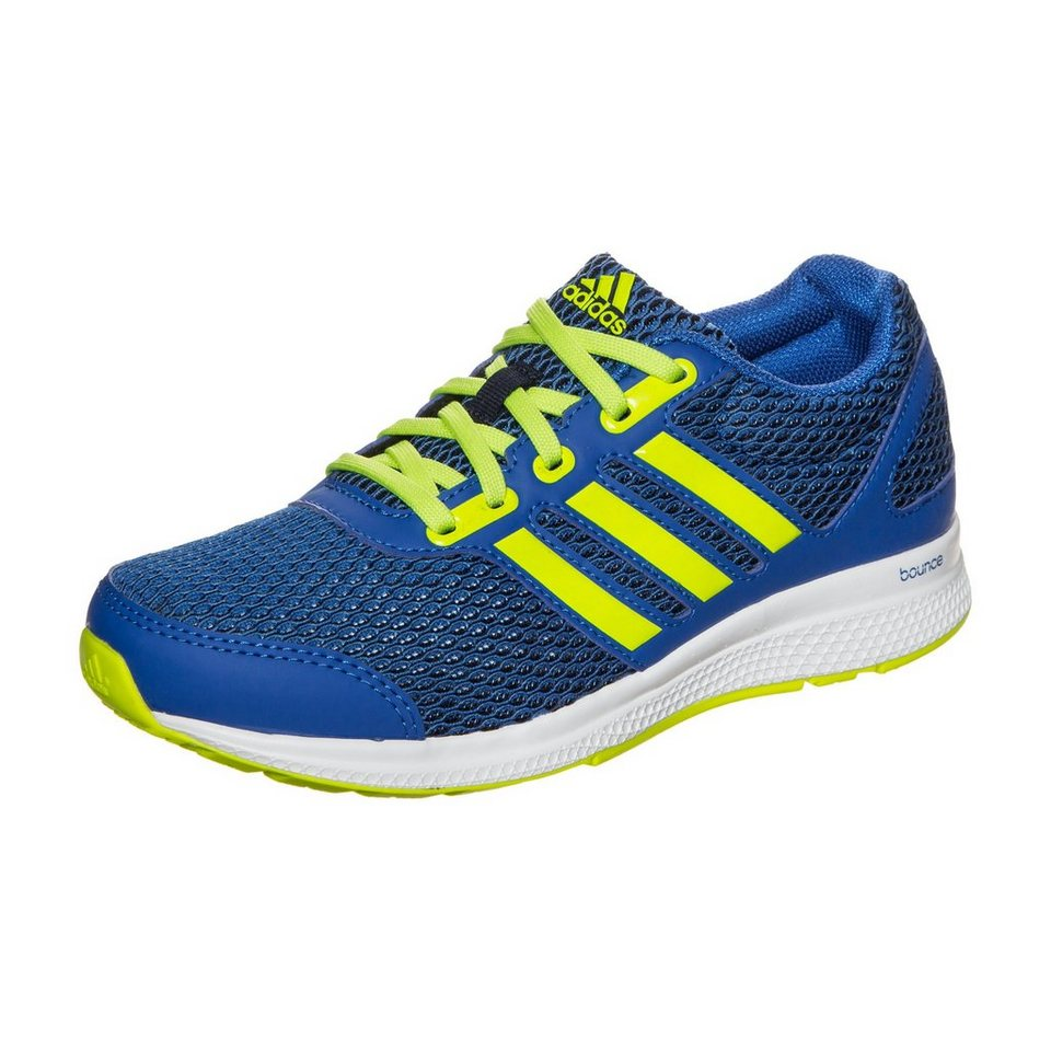 adidas Performance Mana Bounce Laufschuh Kinder in blau / neongelb