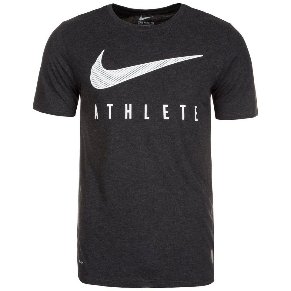 NIKE Dri-Blend Mesh Swoosh Athlete Trainingsshirt Herren in anthrazit / weiß