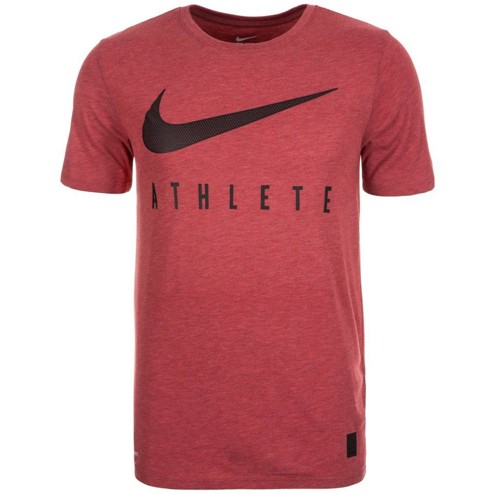 NIKE Dri-Blend Mesh Swoosh Athlete Trainingsshirt Herren in rot / schwarz