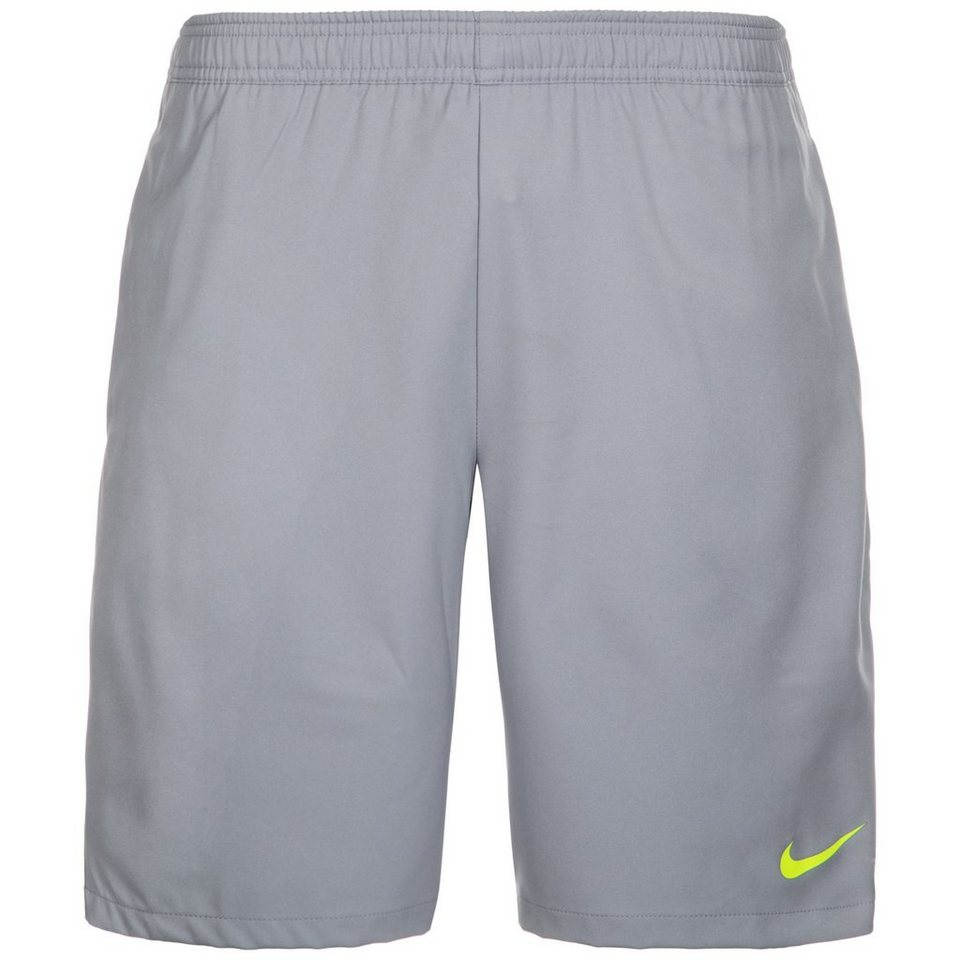 NIKE Court Tennisshort Herren in grau / neongelb