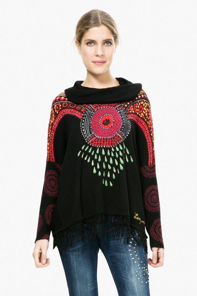 Desigual Pullover »JERS LLUKA« in schwarz