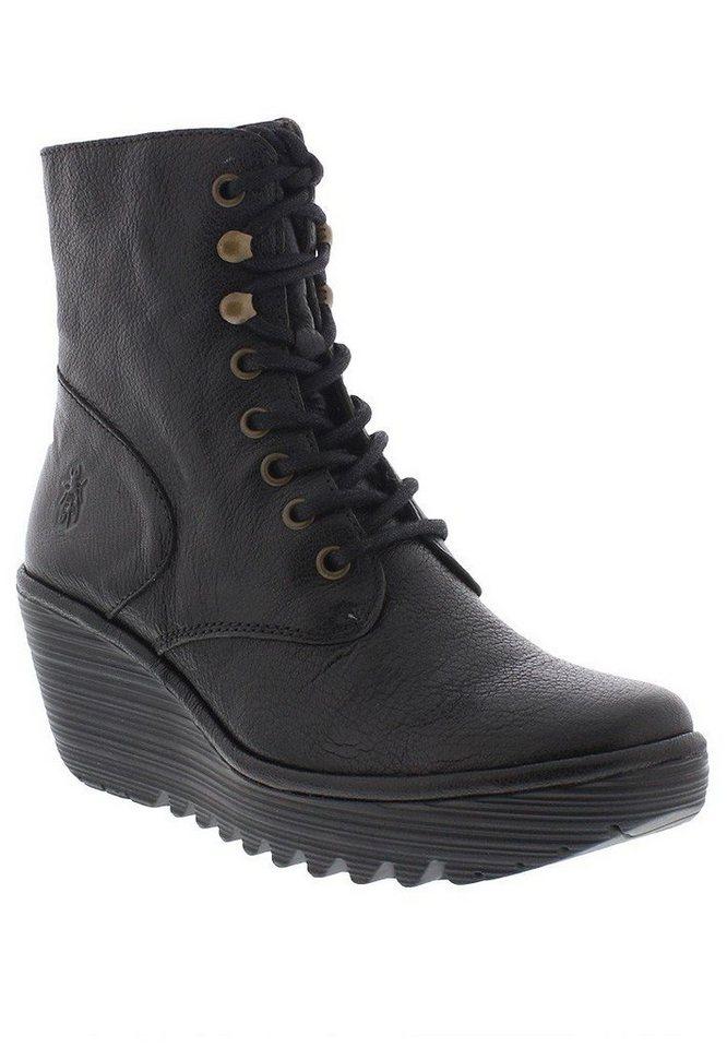 FLY LONDON Keilstiefelette,Chelsea,Boots »Ygot mousse« in schwarz