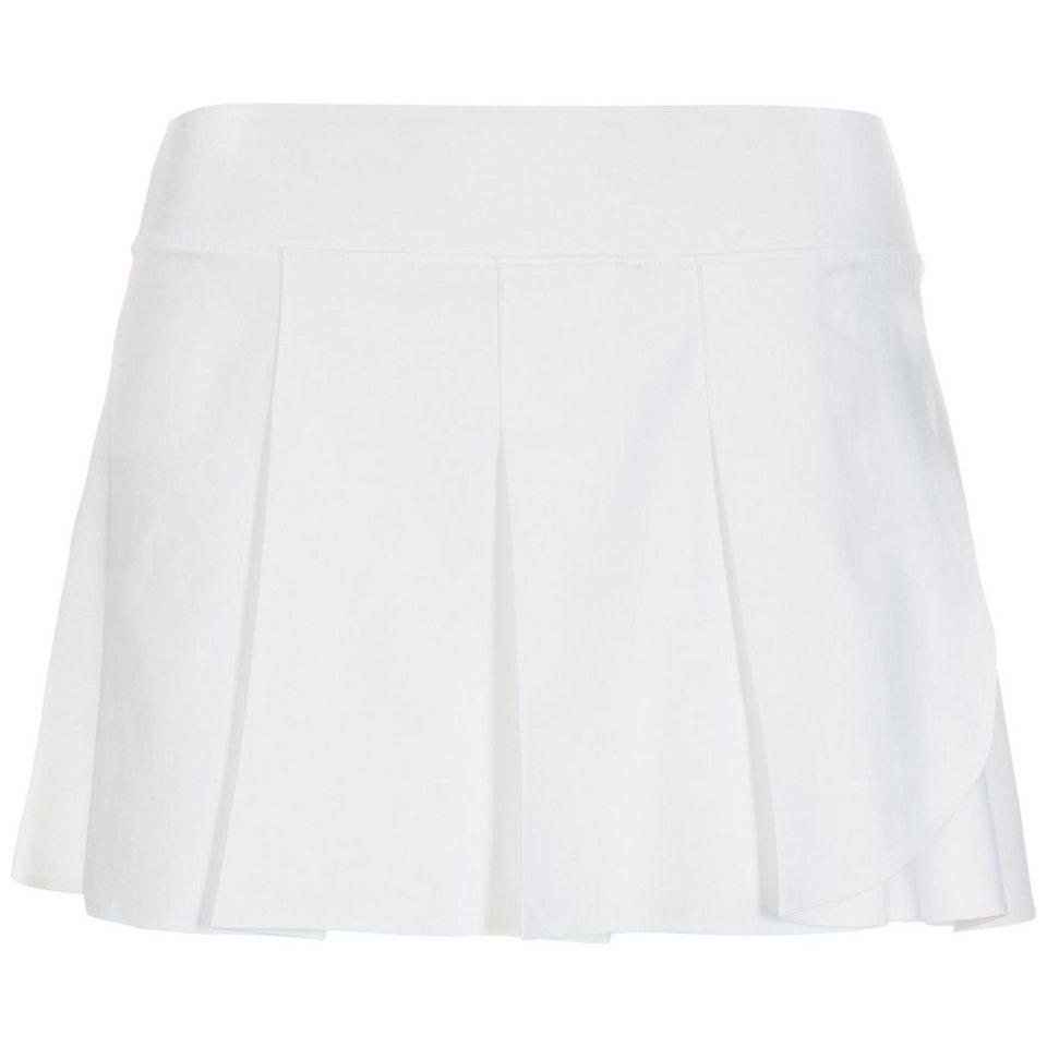 NIKE Power Premier Tennisrock Damen in weiß