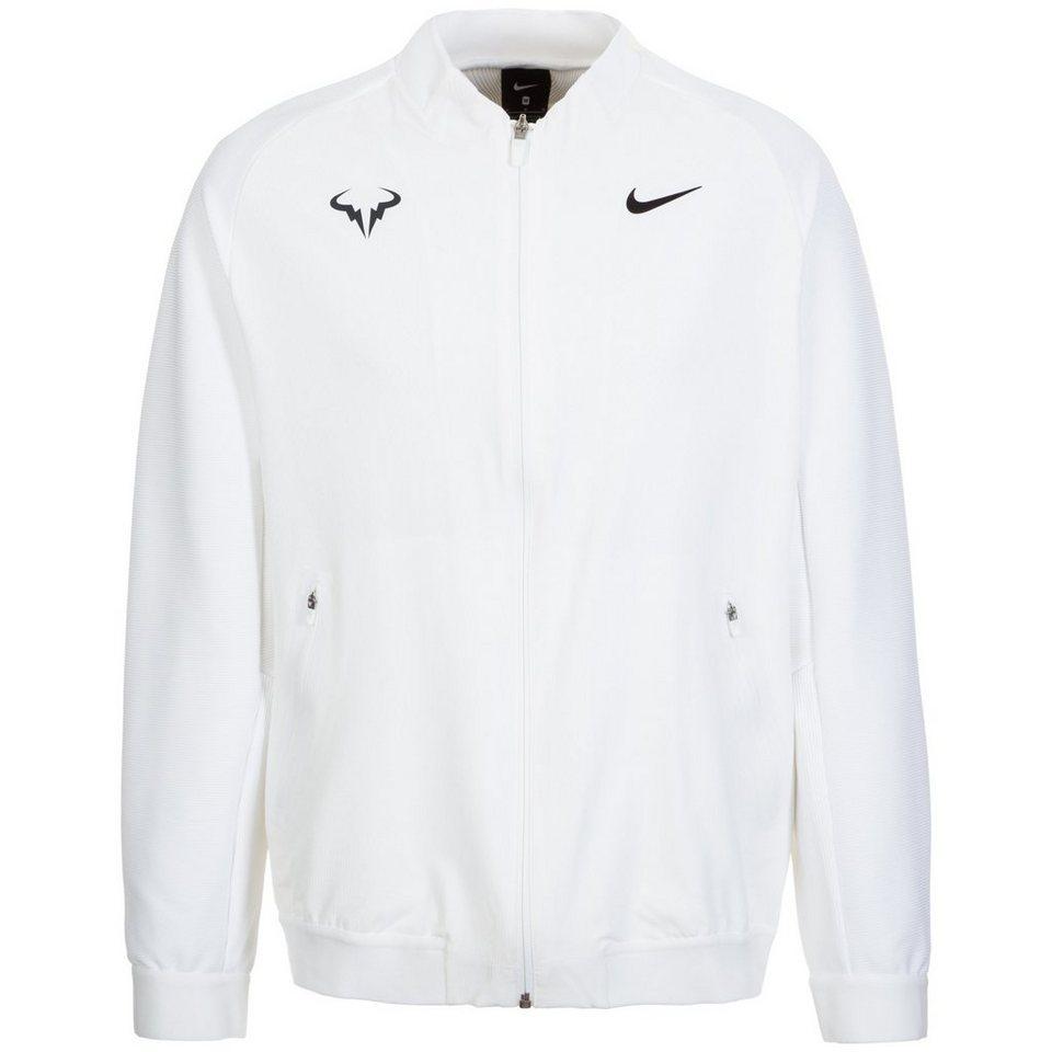 NIKE Court Premier Rafael Nadal Tennisjacke Herren in weiß / schwarz
