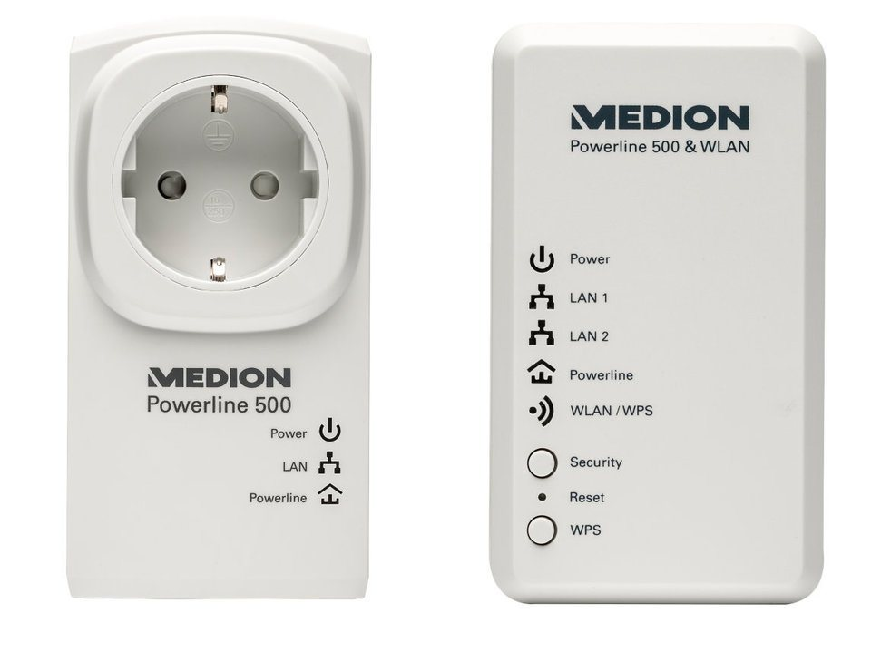 MEDION® Powerl. WLAN Set »P85150 (MD 90222)« in Weiß