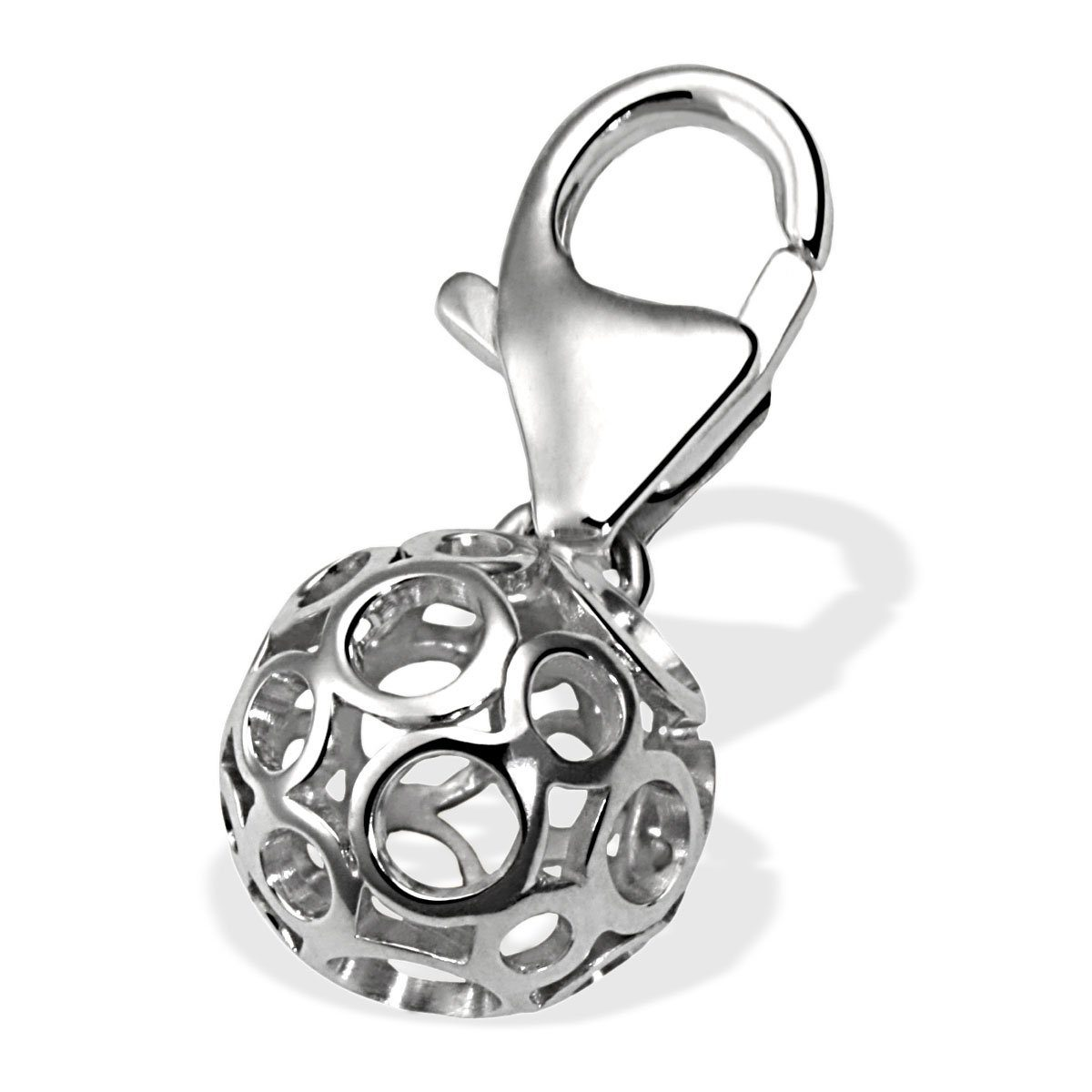Averdin Charm Silber 925 Kugel Lochmuster