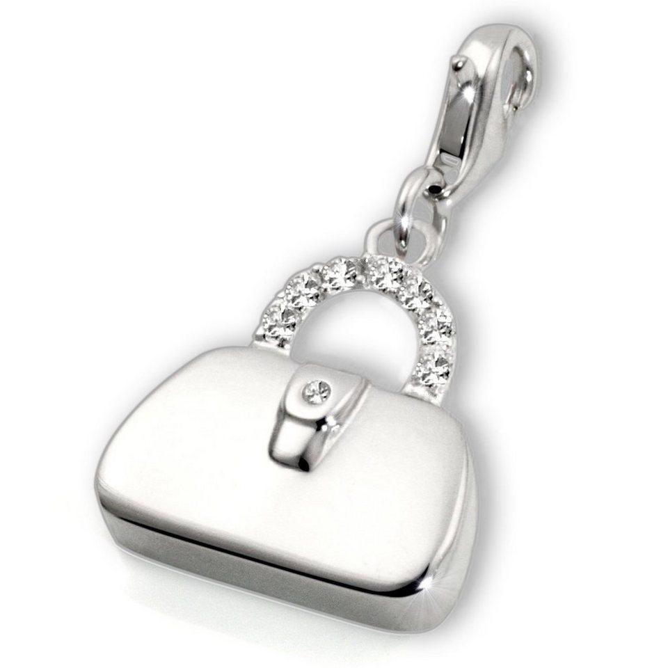 Averdin Charms Silber 925/- Handtasche in silberfarben