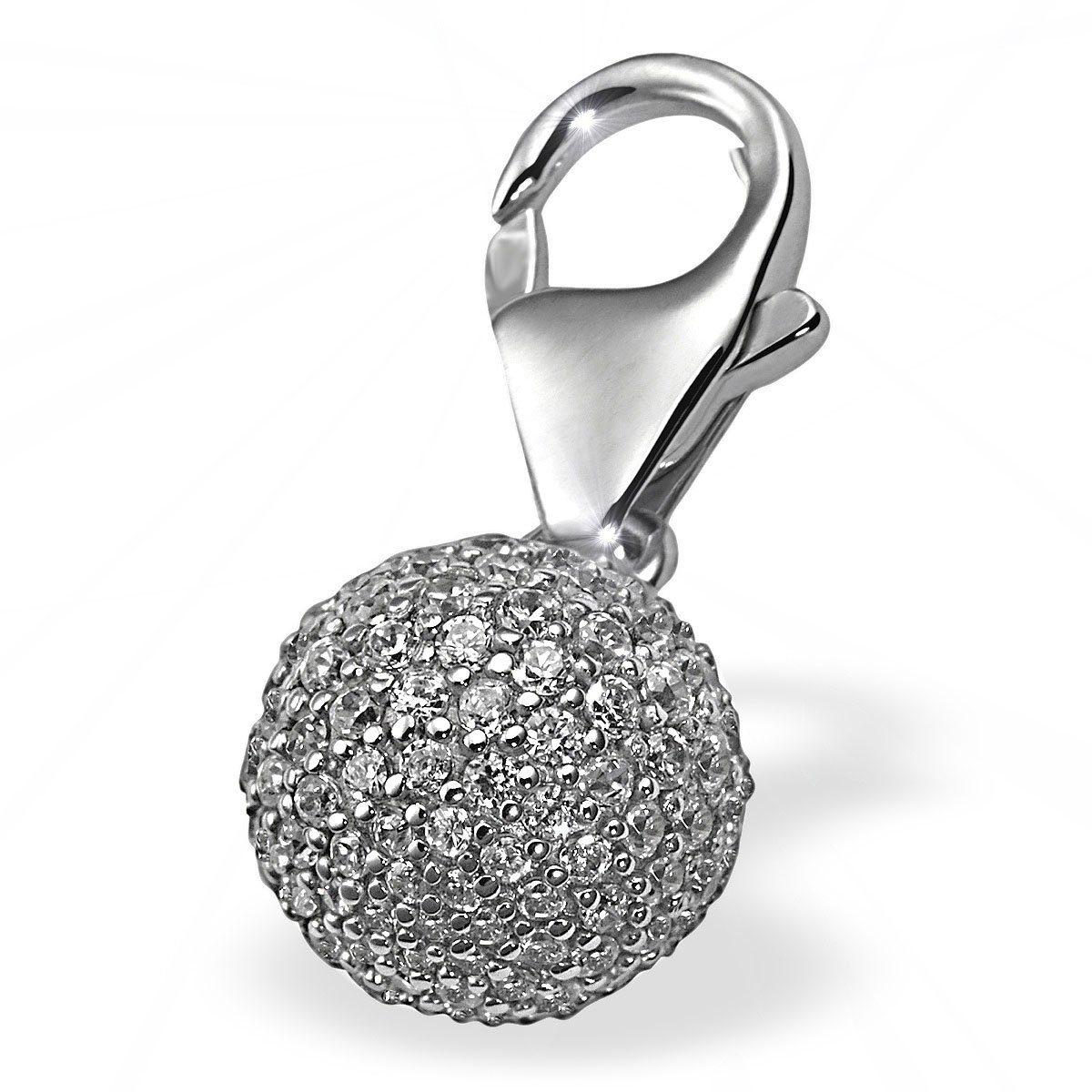 Averdin Charm Silber 925/- Kugel mit 151 Zirkonia