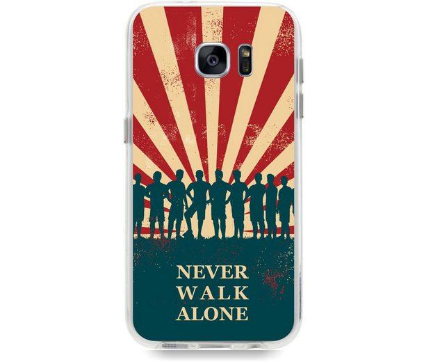 """Caseez Handyhülle »Back Case """"Never Walk alone"""" für Samsung Galaxy S7«"""