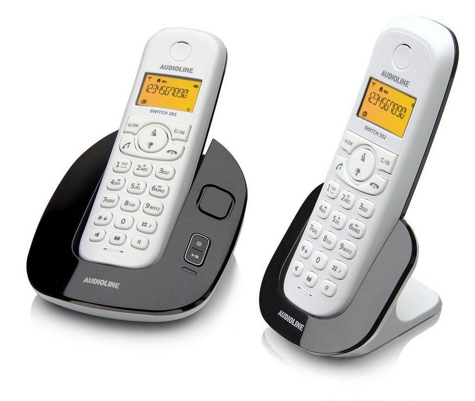 Audioline Telefon analog schnurlos »SWITCH 282« in Schwarz