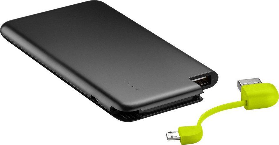 goobay PowerBank »Slim in zwei verschiedenen Kapazitäten« in schwarz