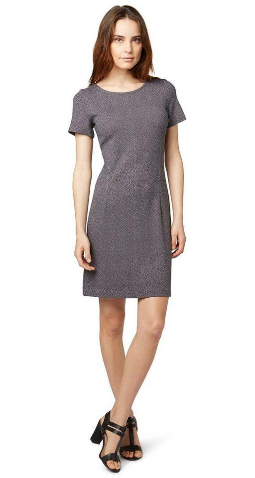 TOM TAILOR Kleid »gemustertes Sommerkleid« in Coal Grey