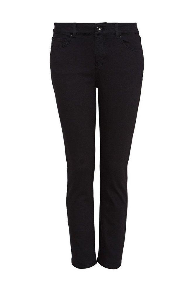 HALLHUBER Verkürzte Straight Leg Jeans in black denim