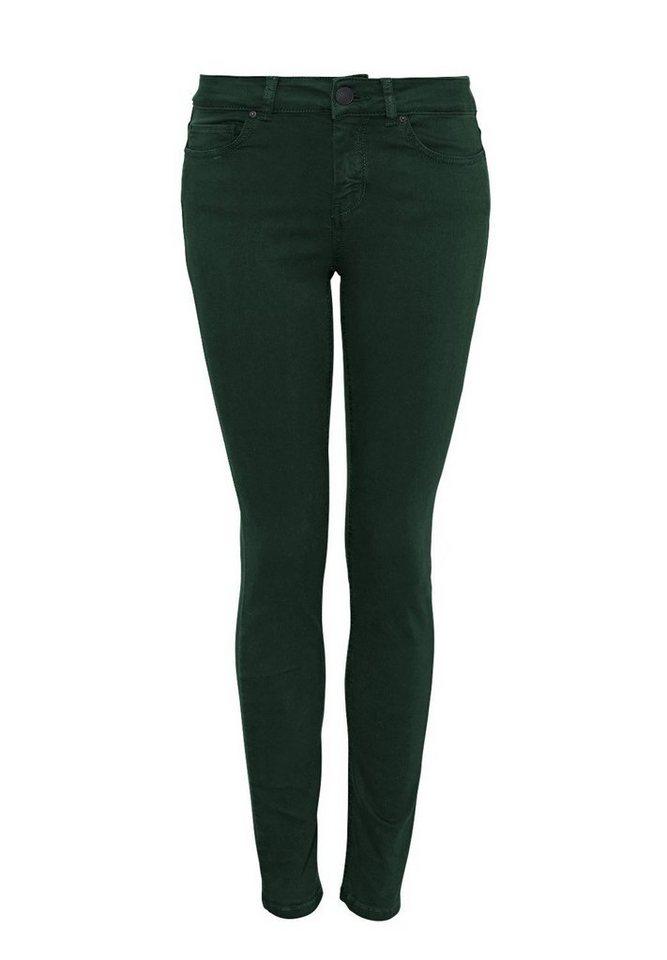 HALLHUBER Skinny Jeans in Antik-Dye in dunkelgrün