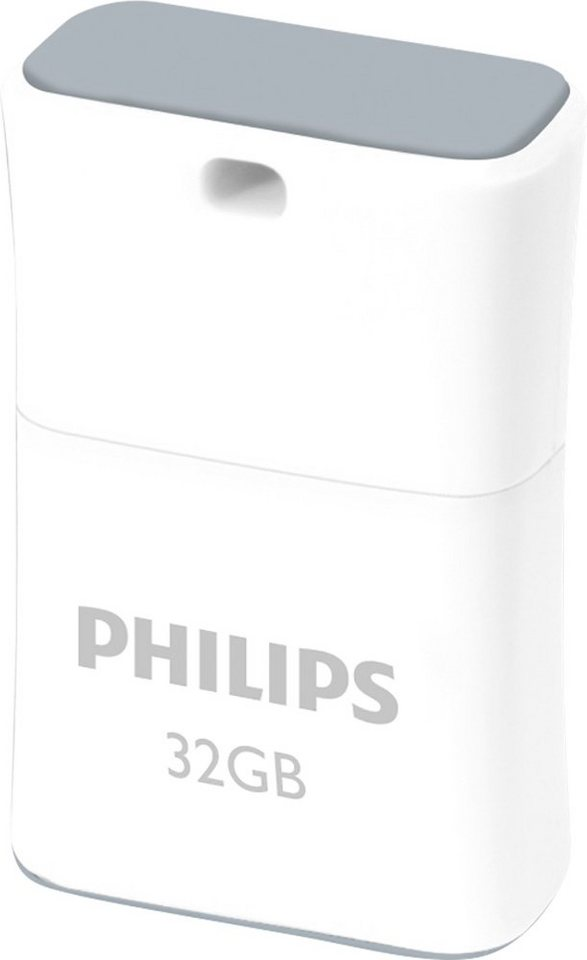 Philips USB 2.0 Stick 32GB, Pico Edition, White, Grey in white