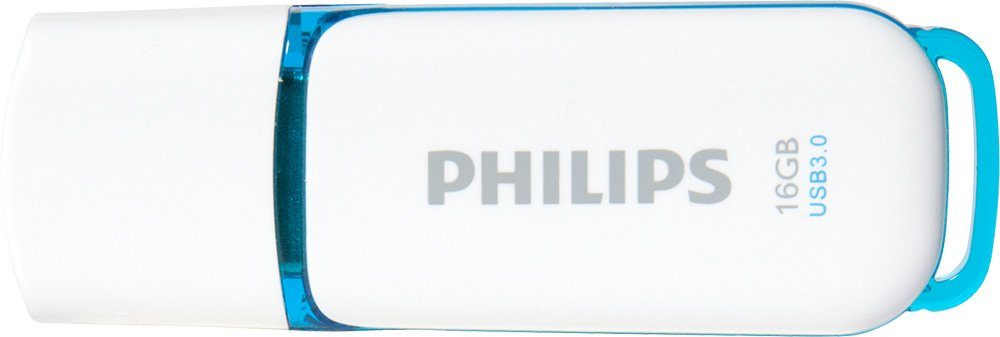Philips USB 3.0 Stick 16GB, Snow Edition, White, Blue