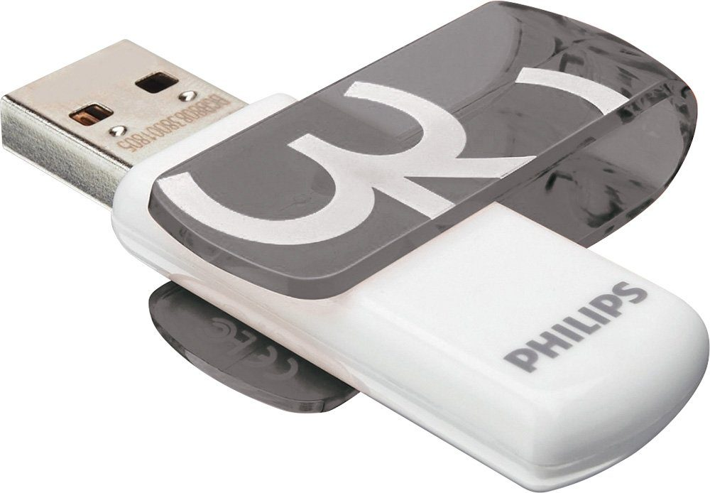 Philips USB 2.0 Stick 32GB, Vivid Edition, White, Grey