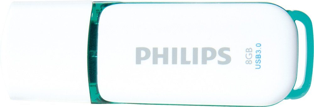 Philips USB 3.0 Stick 8GB, Snow Edition, White, Green