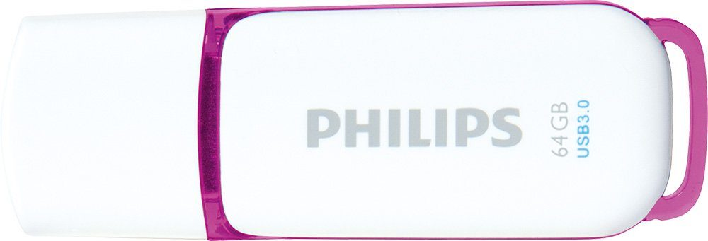 Philips USB 3.0 Stick 64GB, Snow Edition, White, Purple
