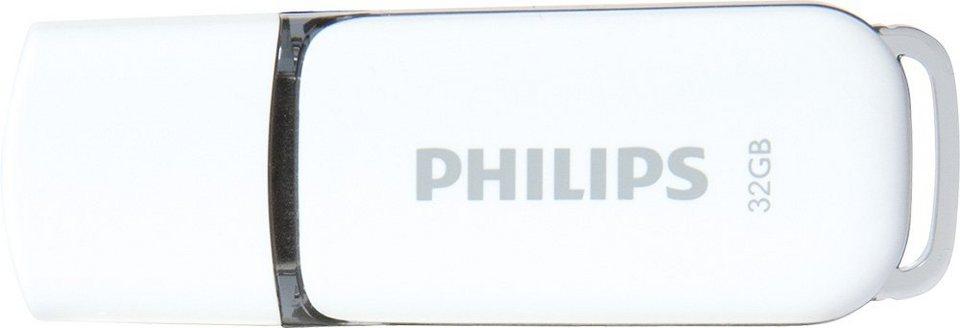 Philips USB 2.0 Stick 32GB, Snow Edition, White, Grey in white