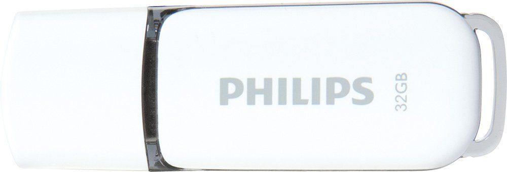 Philips USB 2.0 Stick 32GB, Snow Edition, White, Grey