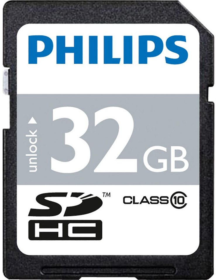 Philips SDHC-Card 32GB, Class 10 in black