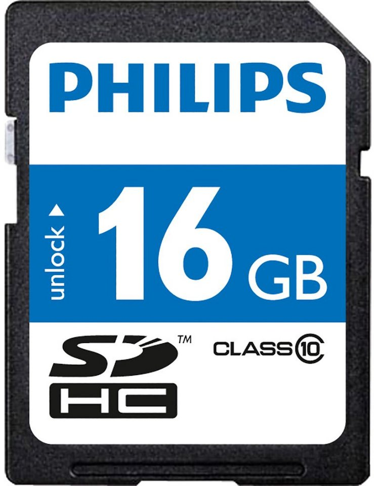 Philips SDHC-Card 16GB, Class 10 in black