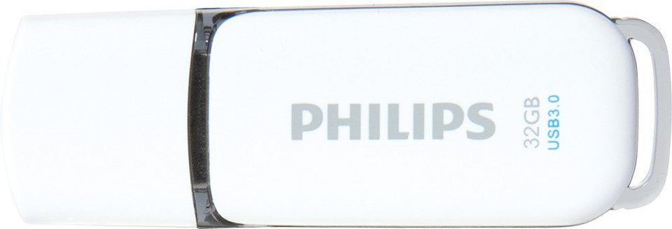 Philips USB 3.0 Stick 32GB, Snow Edition, White, Grey in white