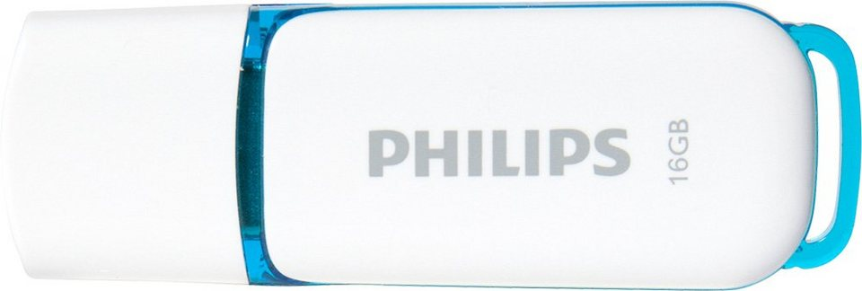 Philips USB 2.0 Stick 16GB, Snow Edition, White, Blue in white