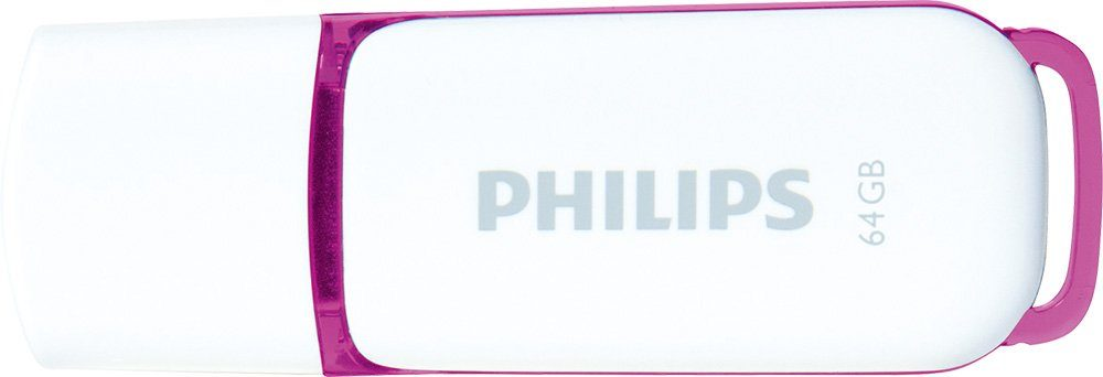Philips USB 2.0 Stick 64GB, Snow Edition, White, Purple
