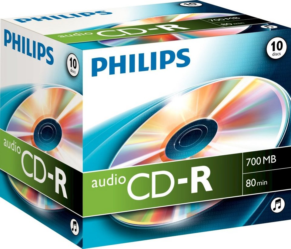 Philips CD-R 80Min/AUDIO Jewelcase (10 Disc) in silver