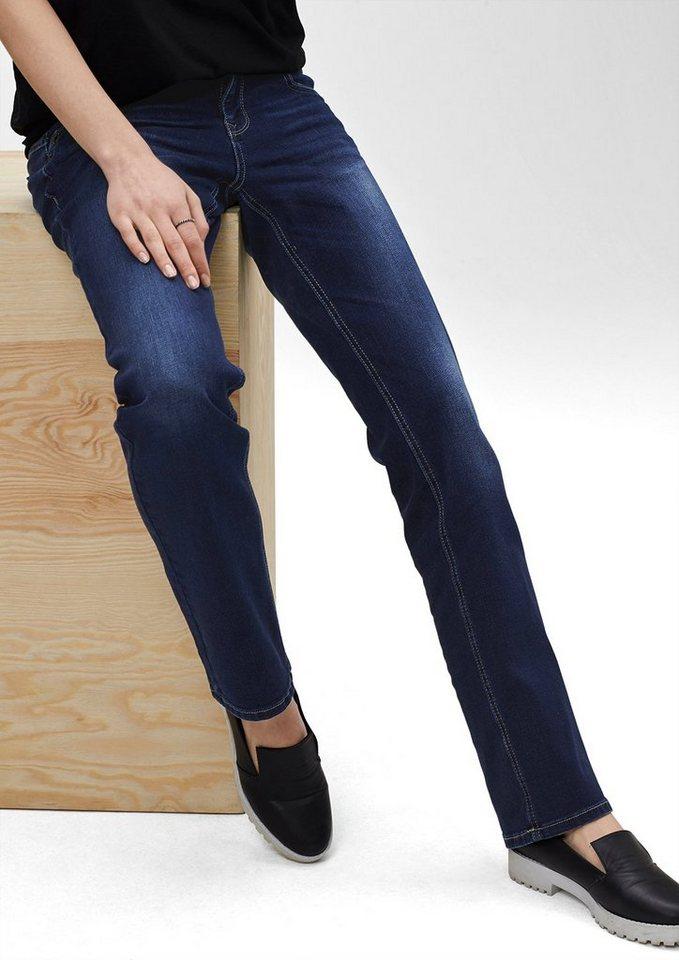s.Oliver Denim Catie Straight: Stretch-Jeans in blue denim, heavy st