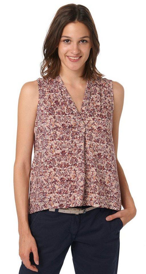 TOM TAILOR Bluse »feminine printed blouse« in velvet red