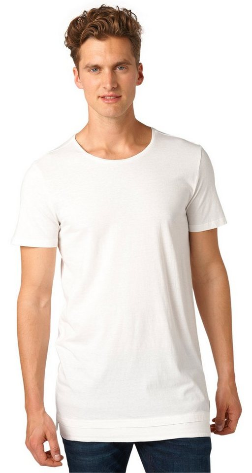 TOM TAILOR DENIM T-Shirt »Longline-Shirt im Lagen-Look« in slightly creamy