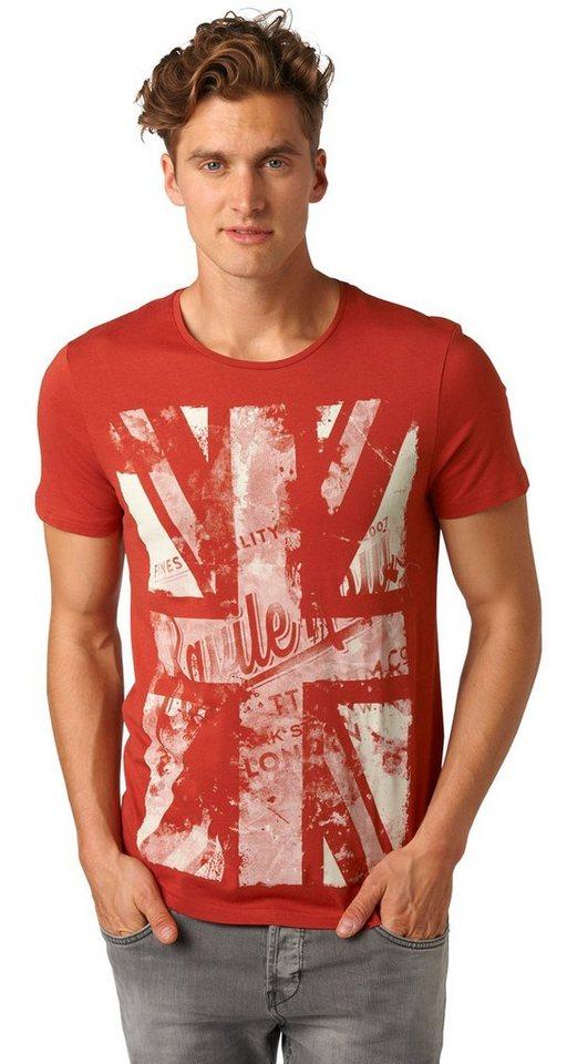 TOM TAILOR DENIM T-Shirt »T-Shirt im Vintage-Look« in burned red slate
