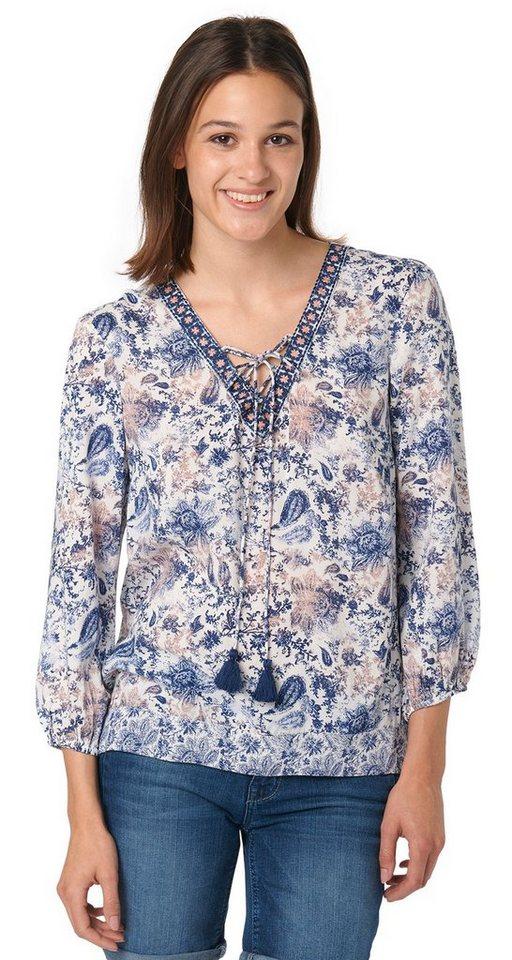 TOM TAILOR Bluse »print mix blouse« in whisper white