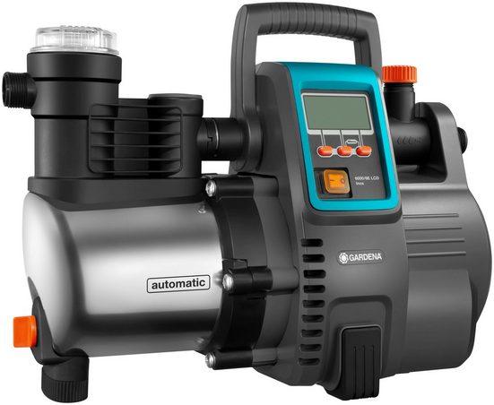 GARDENA Hauswasserautomat »6000/6 LCD inox, 01760-61«, 6.000 l/h max. Fördermenge