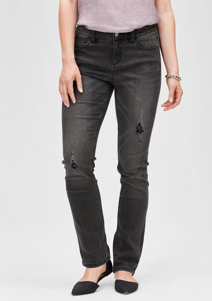 TRIANGLE Regular: Superstretch-Jeans in graphit