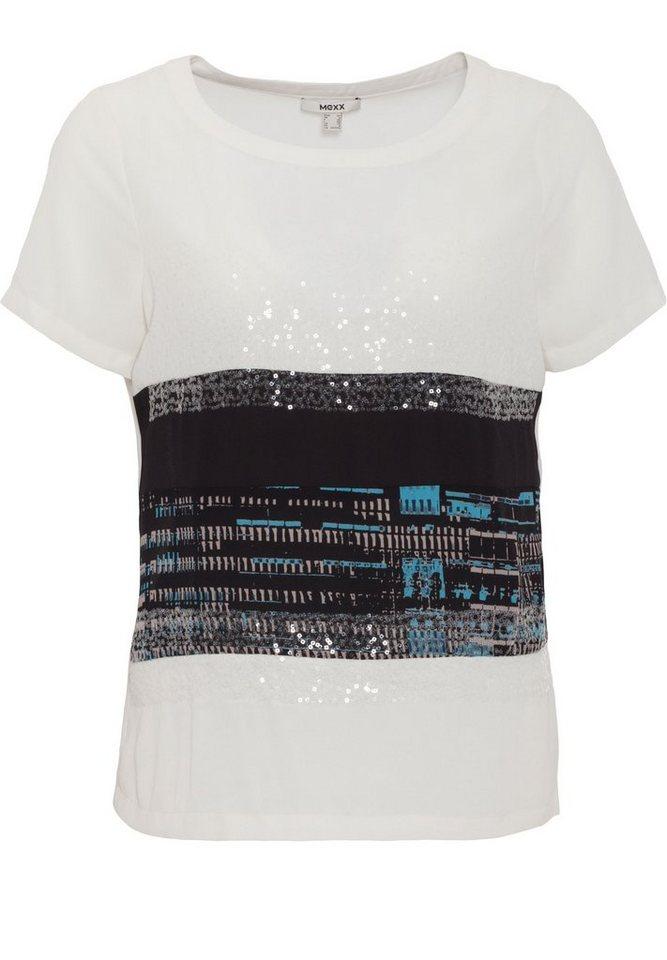 Mexx Shirtbluse mit dekorativer Verzierung in weiß