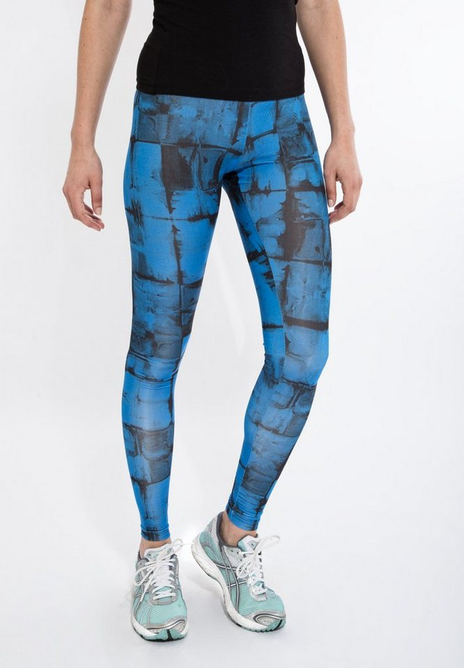 Mexx Leggings mit Alloverprint in blau