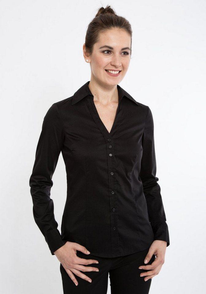 Mexx Hemdbluse mit offenem Blusenkragen in schwarz