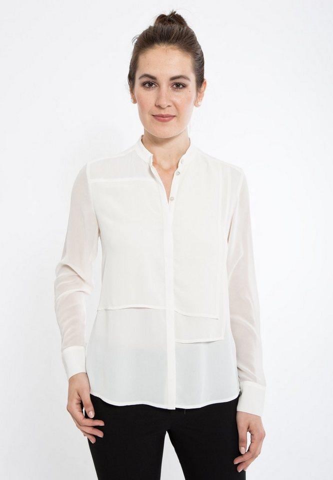 Mexx Hemdbluse mit Stehkragen und Langarm in weiß