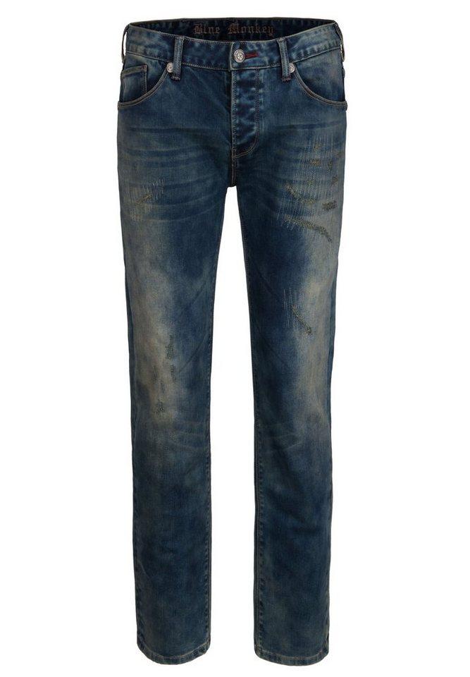 Blue Monkey 5-Pocket-Jeans »Boris« in dunkelblau