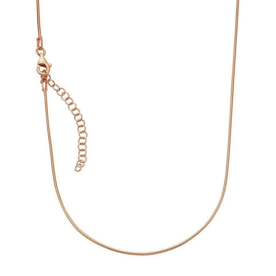 Zeeme Collier »925/- Sterling Silber rotvergoldet 42+5cm« in rot