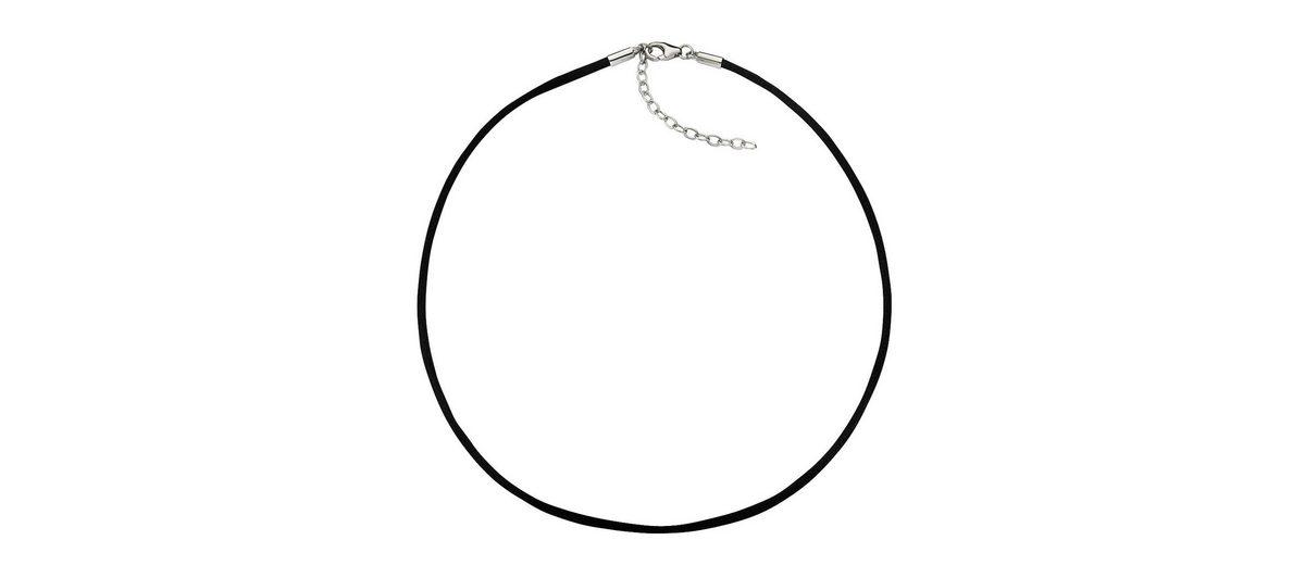 Zeeme Collier »Textilband mit 925/- Silber Verschluß«