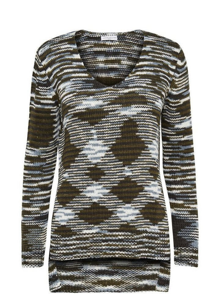 Only High low Knitted pullover in Black 2